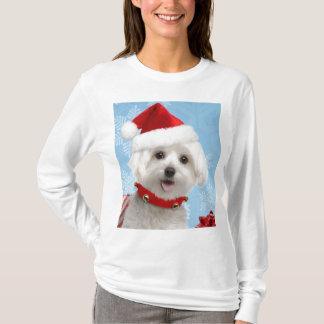 Camisa maltesa del navidad del perrito