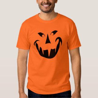 Camisa malvada de Halloween de la calabaza de la