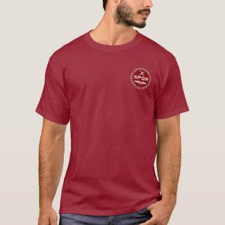 Camisa marrón y blanca de la legión romana de SPQR