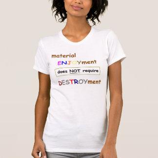 Camisa material de las señoras del disfrute