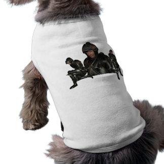 Camisa medieval del mascota del guerrero camisas de mascota