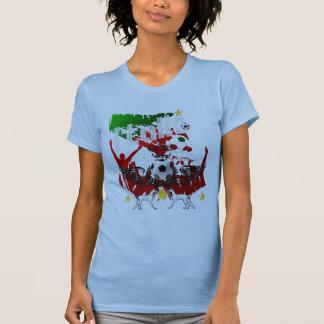 Camisa menuda de Italia Calcio de las señoras de