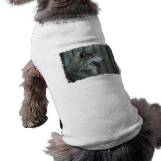 Camisa mexicana del mascota del lobo playera sin mangas para perro