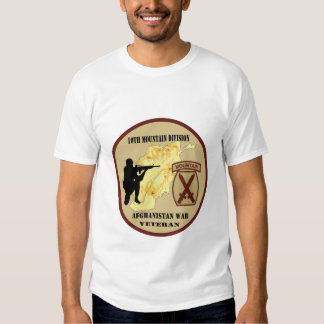 """camisa militar del """"10mo de la montaña veterano de"""
