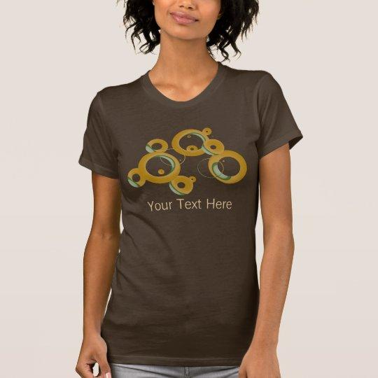 Camisa moderna de las burbujas - aceituna