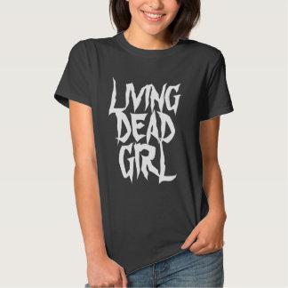 Camisa muerta viva del gótico del chica
