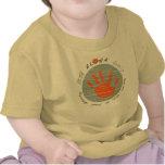 Camisa multilingue de la impresión de la mano de