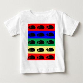 Camisa múltiple del bebé del arte pop del gato de
