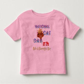 Camisa nacional del día del gato