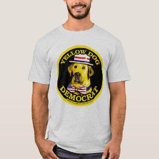 Camisa negra de Demócrata del perro amarillo