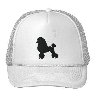 Camisa negra de la falda del caniche gorras de camionero