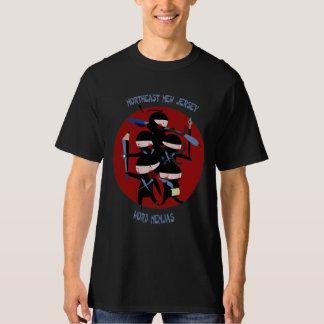 Camisa negra de Nenjas de la palabra de nordeste