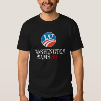Camisa negra del estilo de Washington - de Adams