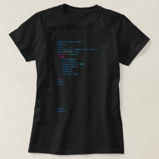 Camisa negra del HTML