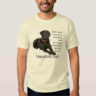 Camisa negra del papá del laboratorio
