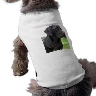 Camisa negra del perro del labrador retriever playera sin mangas para perro