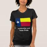 Camisa negra venezolana y del Texan del orgullo de