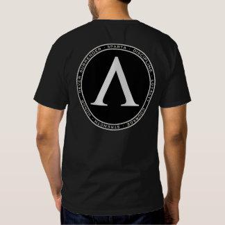 Camisa negra y blanca de Sparta de la lambda del