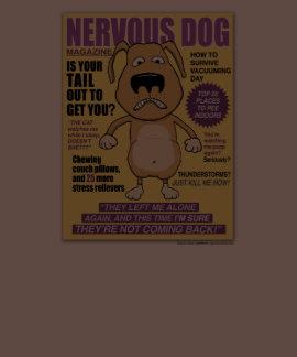 Camisa nerviosa de la revista del perro