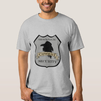"""Camisa occidental de la seguridad de la vaquera"" Remera"