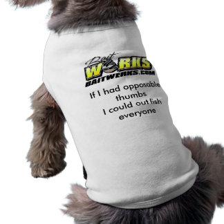 camisa oponible del perro de los pulgares camiseta de perro