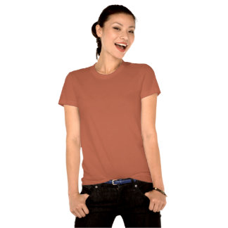 Camisa orgánica de Nueva York de las mujeres de la