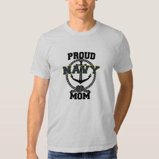 Camisa orgullosa del ancla de la mamá de la marina