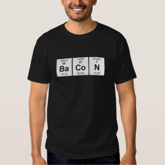 Camisa oscura básica del tocino