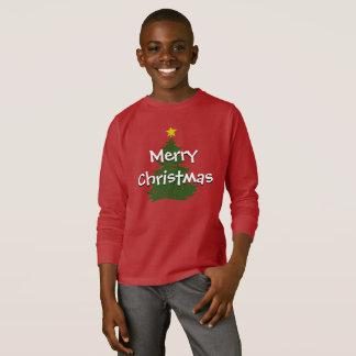 Camisa oscura de los niños del navidad del autismo
