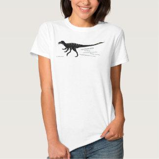 Camisa oscura del dinosaurio de la garra del
