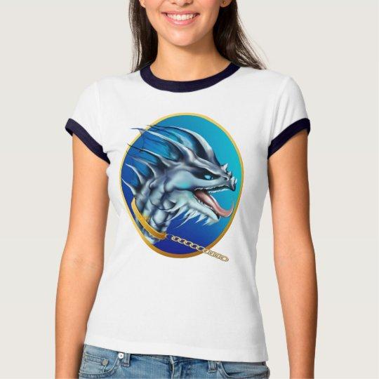 Camisa oval de cadena del dragón y del oro