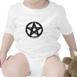Camisa pagana del bebé del pentáculo del estaño