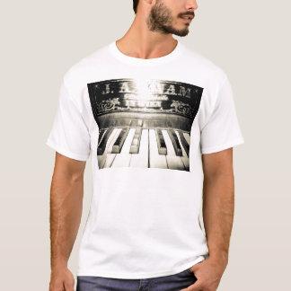 Camisa para hombre de la impresión del piano del
