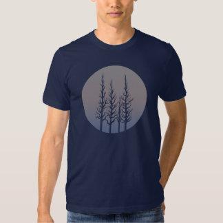 Camisa para hombre del bosque del cambio congelado