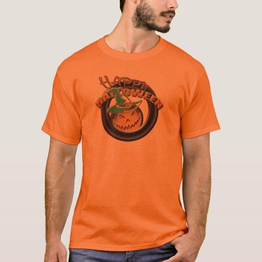 Camisa para hombre del gorra de la bruja de la