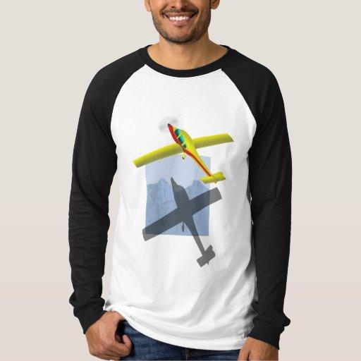 Camisa para hombre del raglán del aeroplano
