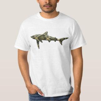Camisa para hombre del tiburón de la serpiente de