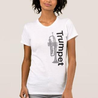 Camisa para mujer apenada de la trompeta