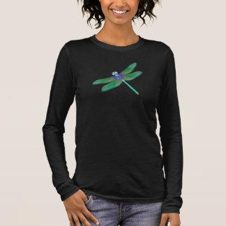 Camisa para mujer de la manga larga de la libélula