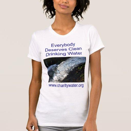 Camisa para mujer del agua potable