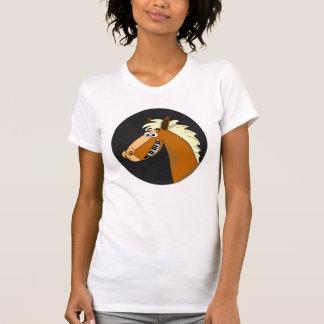 Camisa para mujer del caballo del piano