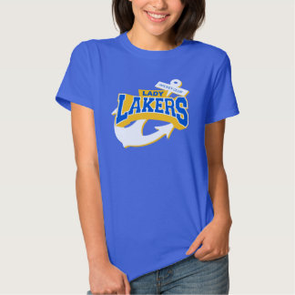 Camisa para mujer del logotipo del azul real