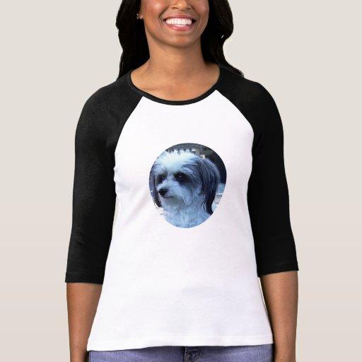 Camisa para mujer del Maltés-Caniche