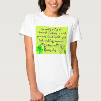 Camisa para mujer del rezo irlandés