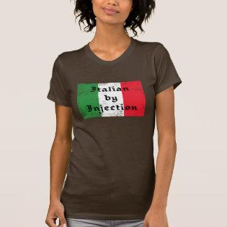 Camisa para mujer divertida del italiano por inyec