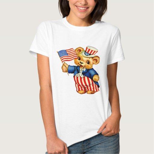 Camisa patriótica de la muñeca de las señoras del