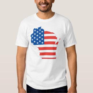 Camisa patriótica de Wisconsin