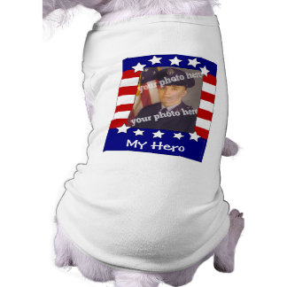 Camisa patriótica del perro de la foto de encargo  playera sin mangas para perro