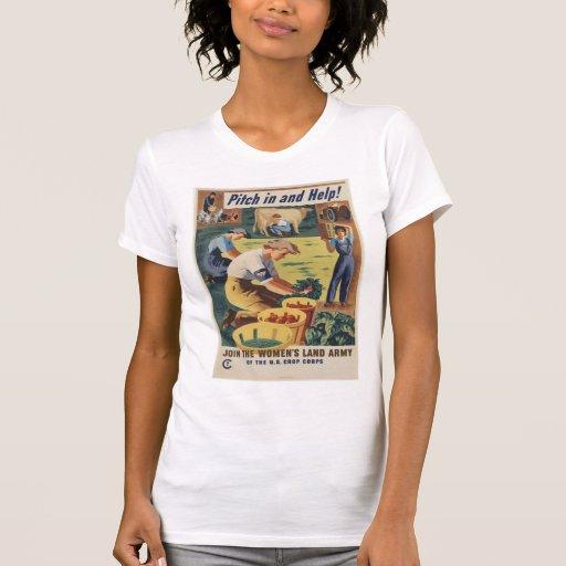 Camisa patriótica del poster de WWII