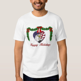 Camisa patriótica militar del navidad del corazón